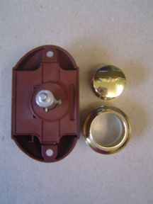 GOLD BUTTON SINGLE FOR RODS PUSH-LOCK